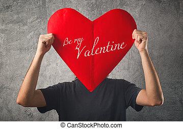 valentine, giorno valentines, concept.