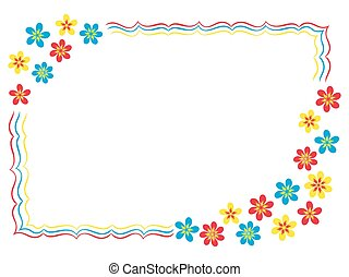 Valentine greeting card with flowers, hand drawing vector ...