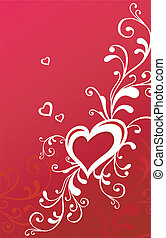 Valentine greeting card with heart