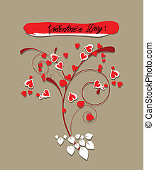 valentine greeting hearts card