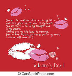 valentine greeting lips kiss me car
