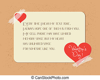 valentine greeting poster card