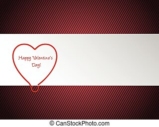 Valentine greeting with heart shaped paper clip