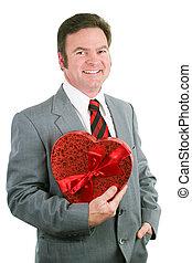 Valentine Guy Holding Heart