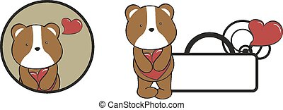 valentine hamster cartoon heart hug