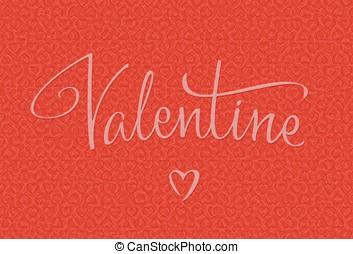 Valentine handwritten lettering