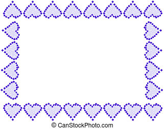Valentine heart frame or border