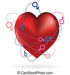 Valentine heart - Heart love card, valentine day, sweet Icon...