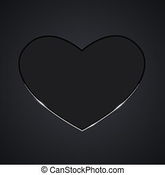 Valentine heart in black colors