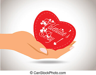 Valentine heart in hand