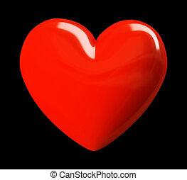 Valentine heart isolated on black background