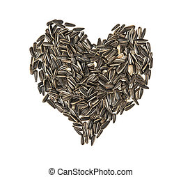 Valentine heart of linseed
