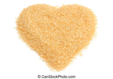 Valentine heart of sugar on white background