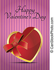 valentine heart ribbon