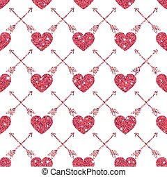Valentine Heart Seamless Pattern 1