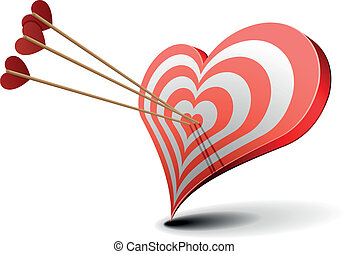 Heart shaped target clipart vector graphics 680 heart shaped target valentine heart target valentines day concept altavistaventures Image collections