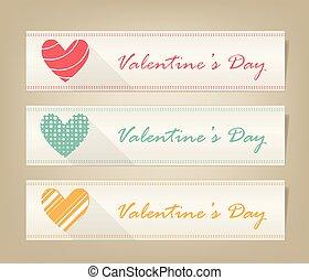 Valentine heart vector banner set  ,love symbol icon.