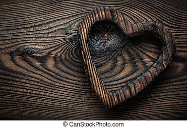 valentine heart vintage wooden toy