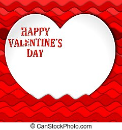 """Valentine Heart - White heart with the words """"Happy..."""