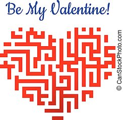 Valentine heart with labyrinth