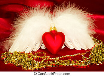 Valentine heart with wings