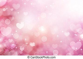 Valentine Hearts Abstract Pink Background. St.Valentine's...