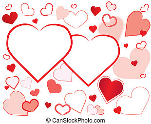 Valentine Hearts Background - Hearts background, two...