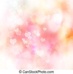Valentine hearts background - Valentine heart shaped lights...