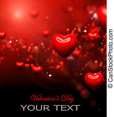 Valentine Hearts Background. Valentines Red Abstract Wallpaper