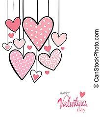 valentine hearts card