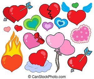 Valentine hearts collection 1