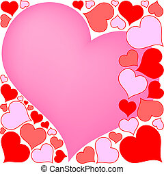 Valentine hearts - colorful hearts valentine background