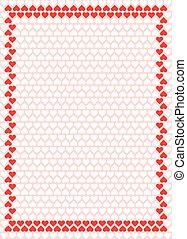valentine hearts frame