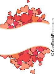 Valentine hearts. Holiday frame