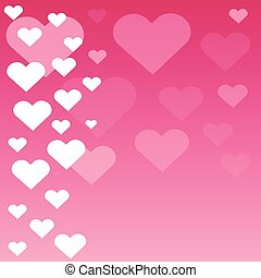 Valentine hearts isolated on pink background. Vector illustration.