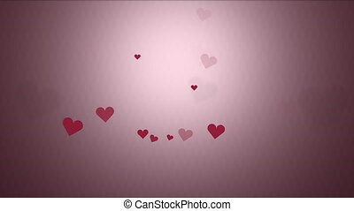 Valentine hearts low saturation background