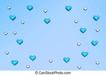 Valentine Hearts pattern background. 3d render.