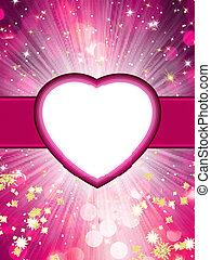 Valentine hearts pink. St.Valentine's Day. EPS 8