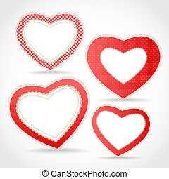 Valentine hearts. Template for a tex