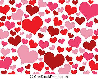 Valentine hearts texture