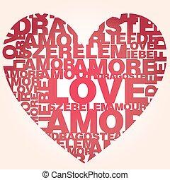 Valentine heaValrt from love words