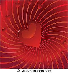 valentine, hintergrund, romanze
