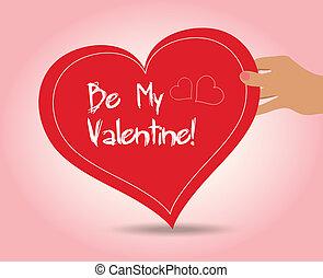 Valentine holding heart
