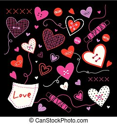 Valentine I Love You Sweetheart Cute Cartoon Vector