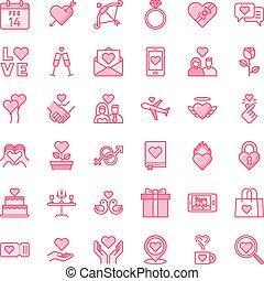 Valentine icon set.