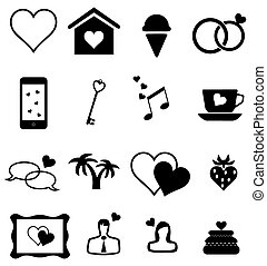 Valentine Icons - vector valentine or wedding icons