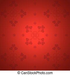 valentine, -, ilustracja, wektor, tło, dzień, czerwony