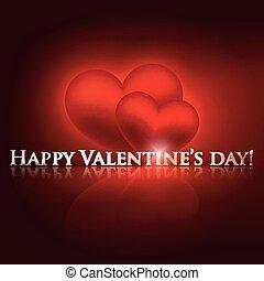 valentine, jour, fond, cœurs, vacances, rouges, heureux