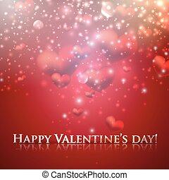 valentine, jour, fond, cœurs, vacances, heureux