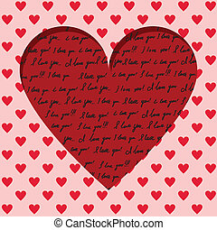 valentine kártya, kézírásos